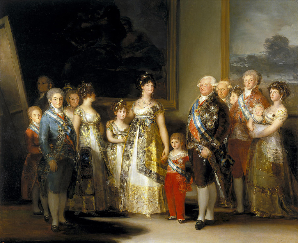 Charles IV of Spain and His Family in Detail Francisco de Goya