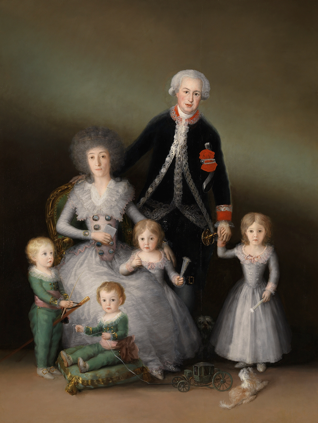 The Duke and Duchess of Osuna and their Children in Detail Francisco de Goya